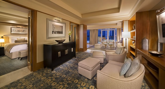 Suite of the week the lavish ambassador suite at the for Sitting room suites