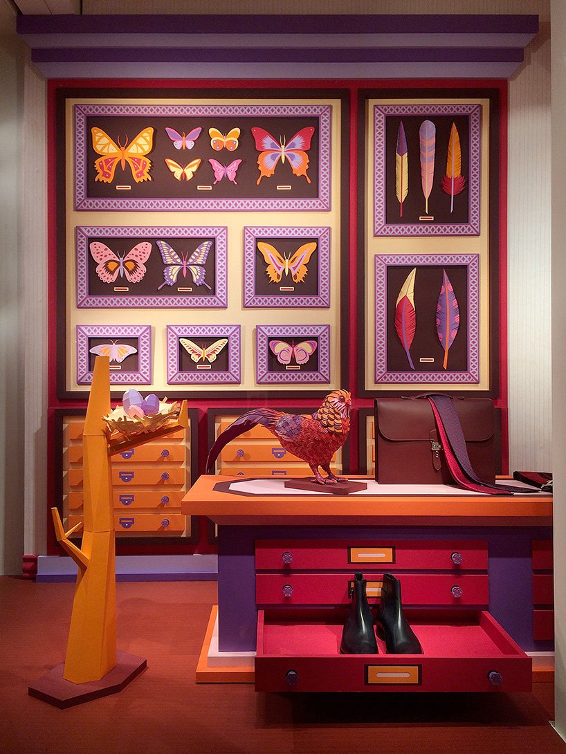 Zim Amp Zou Design Hermes Windows With Leather Insects And