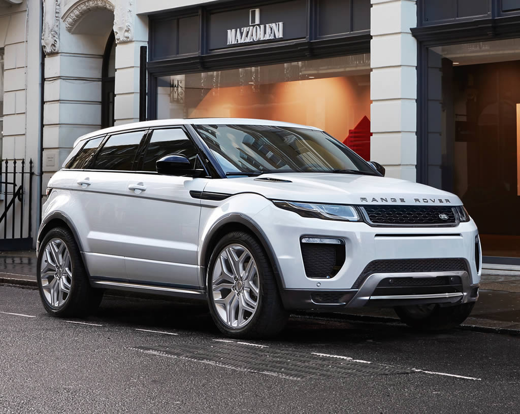 2016 range rover evoque unveiled with subtle styling upgrades and a new ingenium diesel engine. Black Bedroom Furniture Sets. Home Design Ideas