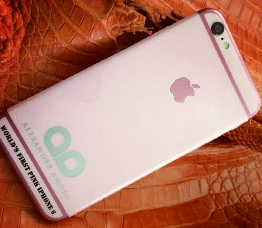 Amosu releases world's first pink iPhone 6 for this year's