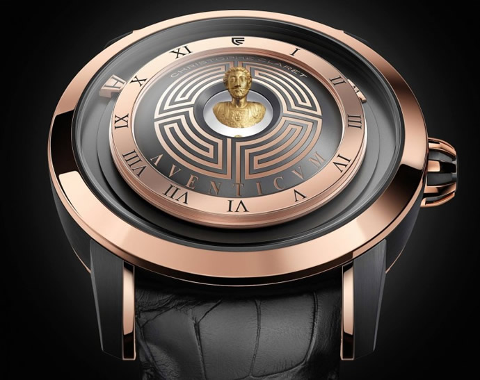 Christophe claret aventicum watch features hologram of for Cristophe salon prices