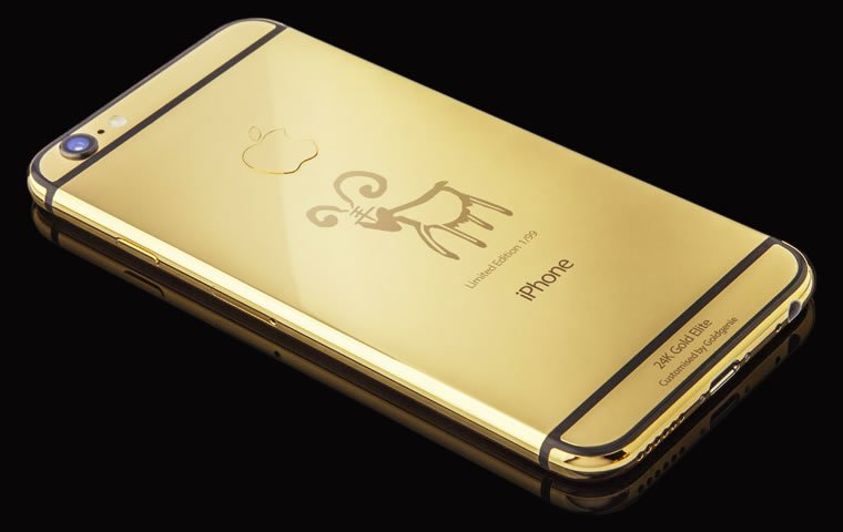 free shipping b5bdc a7ba5 Limited edition Year of the Goat, 24K Gold iPhone 6 Elite, comes ...