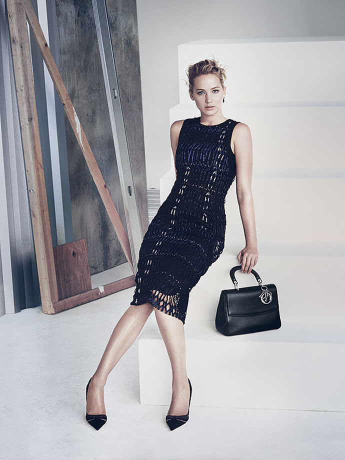 ff0d2dc3d2b Latest Campaign Ads for 'Be Dior' bags star Jennifer Lawrence -