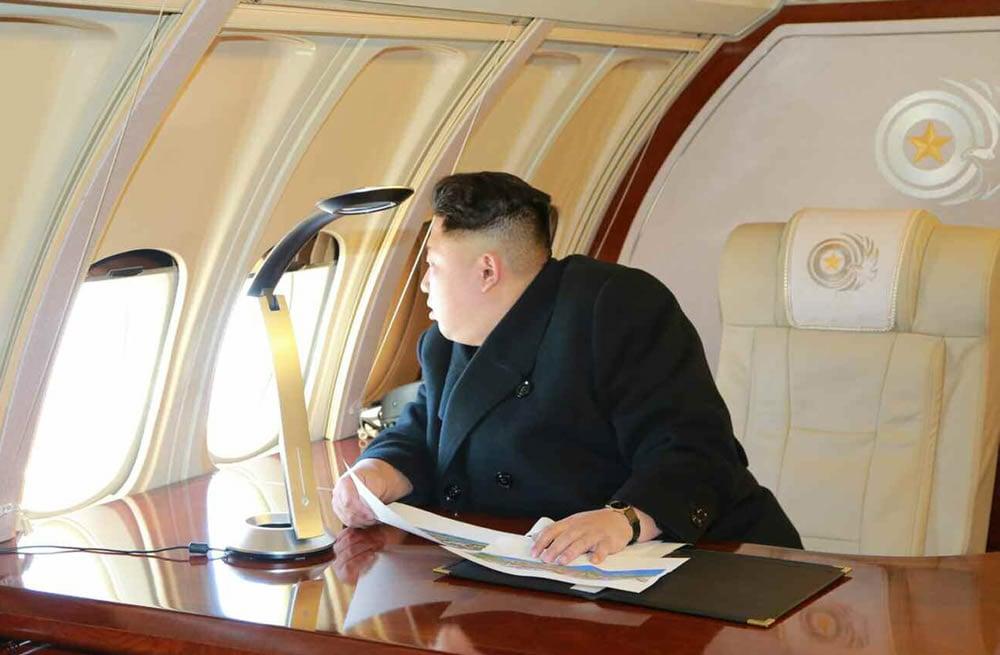 ... look inside, North Korean dictator Kim Jong-Un's luxury private jet