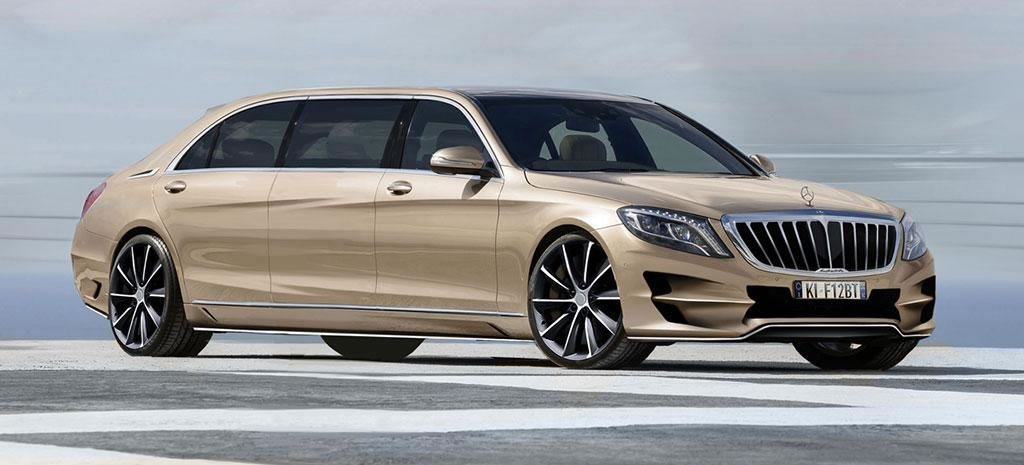 mercedes s class xxl a super stretched limo for those who want the pullman 600 even before it 39 s. Black Bedroom Furniture Sets. Home Design Ideas