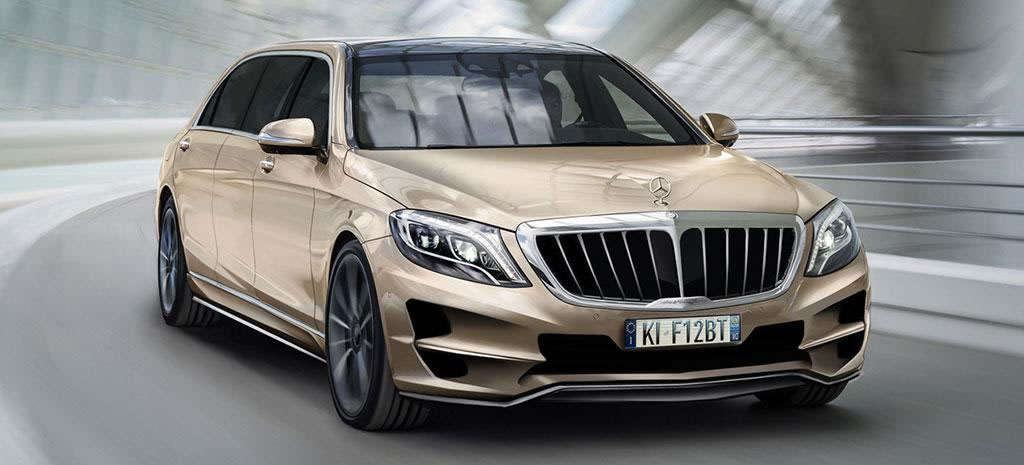Mercedes s class xxl a super stretched limo for those who for Mercedes benz g class 2010 price
