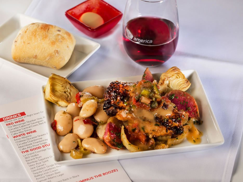 Virgin America Food Menu