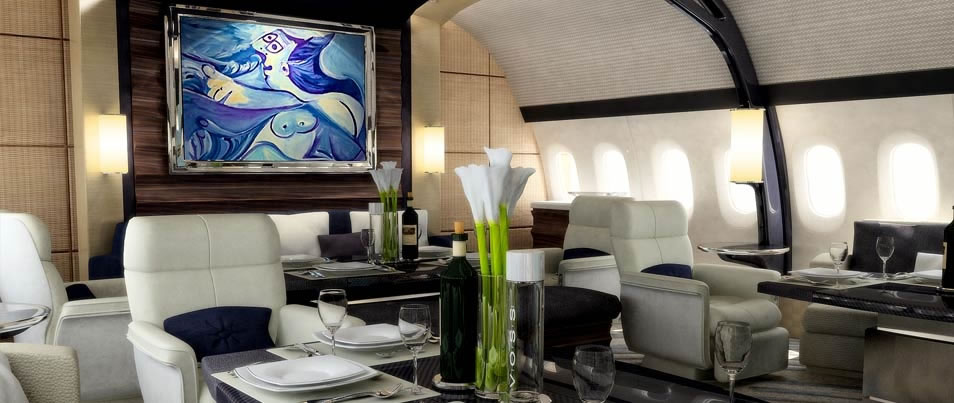 Boeing S Custom Designed 787 900 Dreamliner Is The Equivalent Of A Mega Yacht In Both Style And
