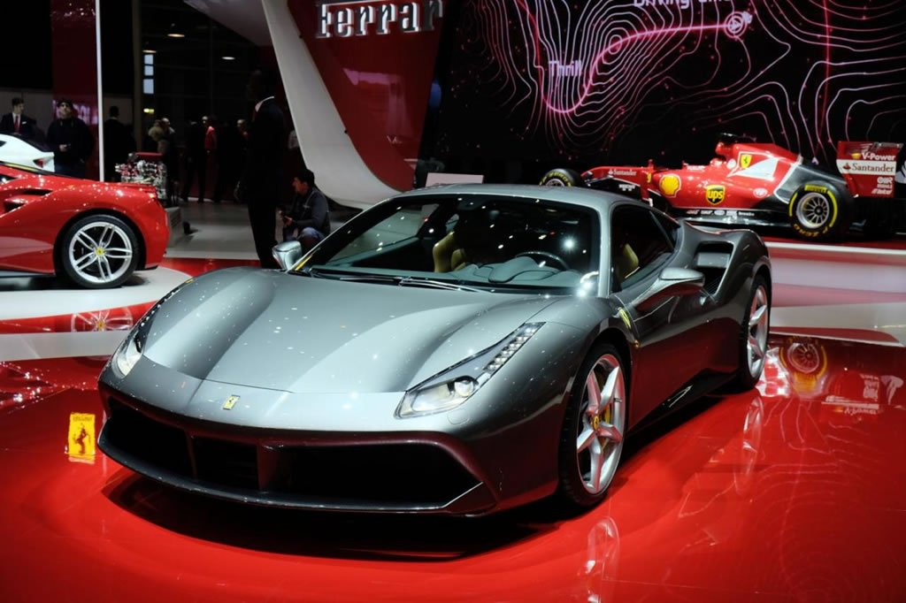 2016 Ferrari 488 GTB is a star at the Geneva Motor Show; first