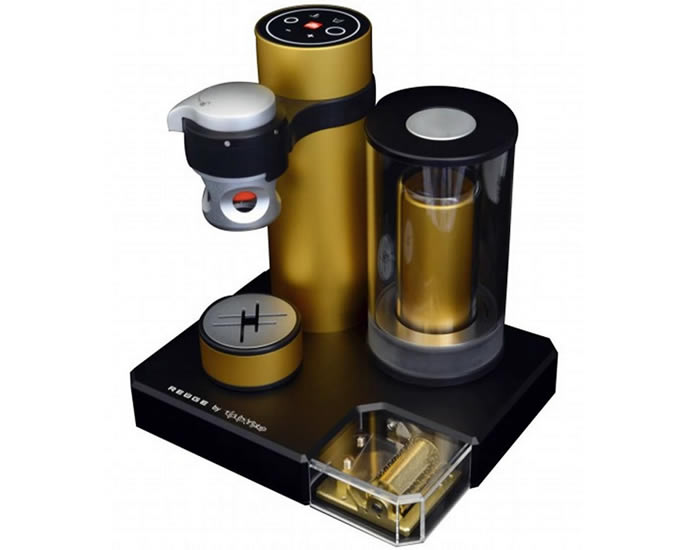 First Espresso Coffe Maker ~ Bliss with kiss is the world s first coffee machine that