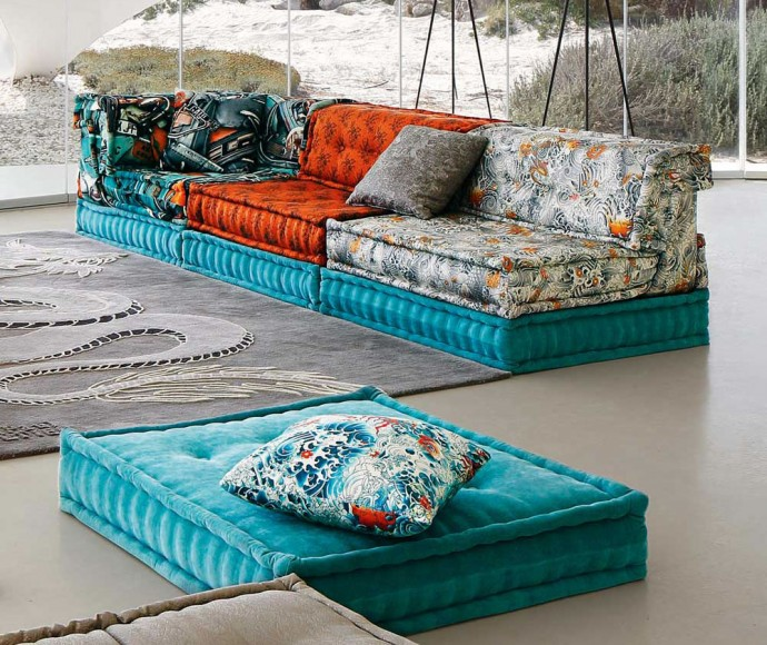 Roche bobois trendy mah jong sofa gets draped in upholstery designed by jean - Canape mah jong roche bobois ...