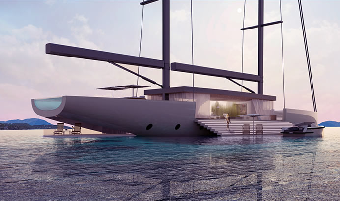 Luxury yacht concept 'SALT' is designed to give an unobstructed view of the surroundings : Luxurylaunches