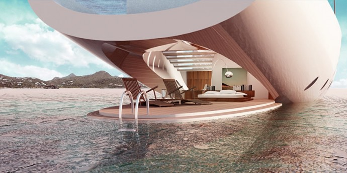 luxury yacht concept 39 salt 39 is designed to give an. Black Bedroom Furniture Sets. Home Design Ideas