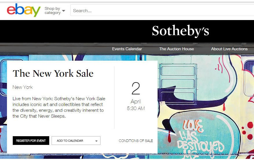 Sotheby S Of New York Goes Online With New Live Streaming Auctions Via Ebay Luxurylaunches