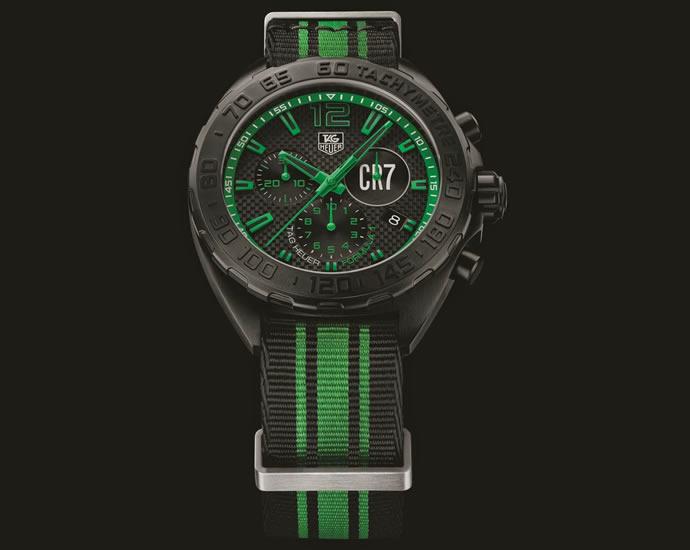 Tag heuer launches formula 1 chronograph cristiano ronaldo limited edition for Tag heuer c ronaldo