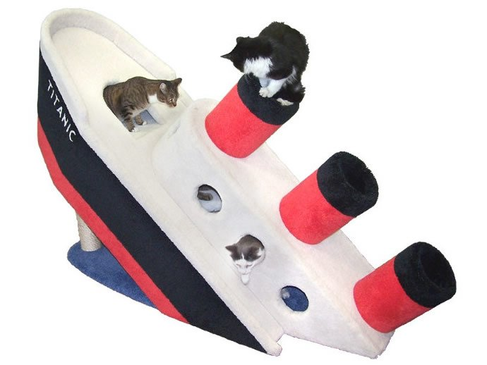 Sinking Titanic Concept Turned Into Luxurious Cat Condo