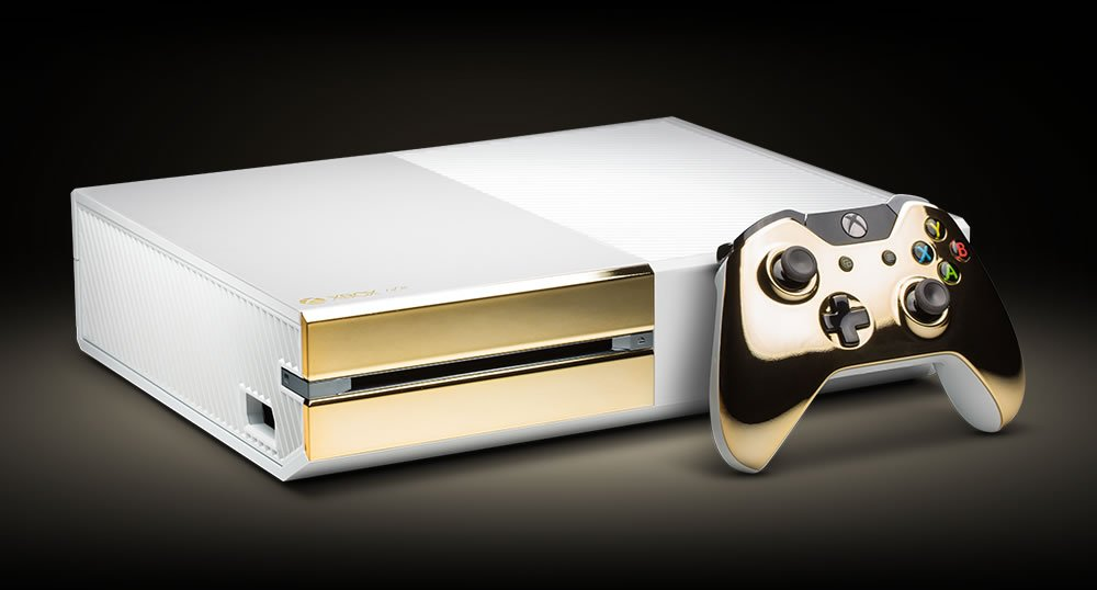 Gold plated xbox-one: because you deserve a $10k console.