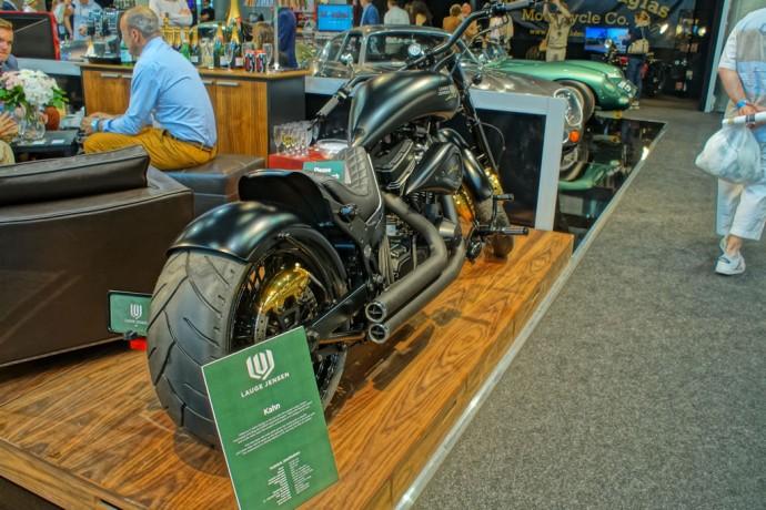 A custom-designed, unique Lauge Jensen motorcycle