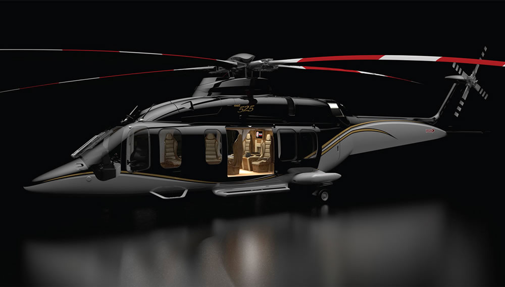 the cabin of the bell 525 relentless helicopter will make the best of the private jets look bland. Black Bedroom Furniture Sets. Home Design Ideas