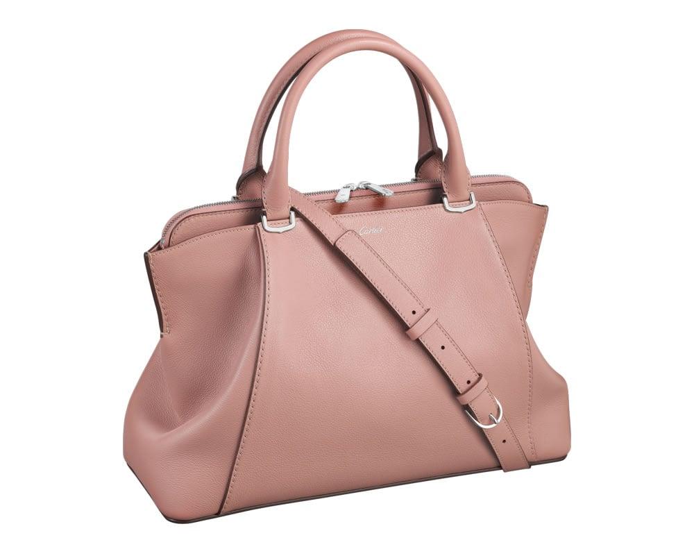 Handbag Alert Casual Elegance And Effortless Style Collide In This C De Cartier Top Handle Bag