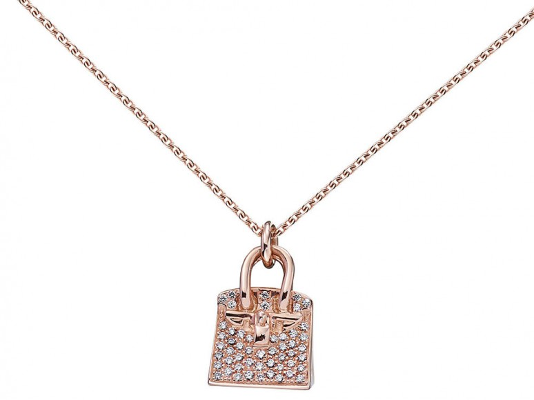 Hermès Birkin Pendant in Rose Gold and Diamonds