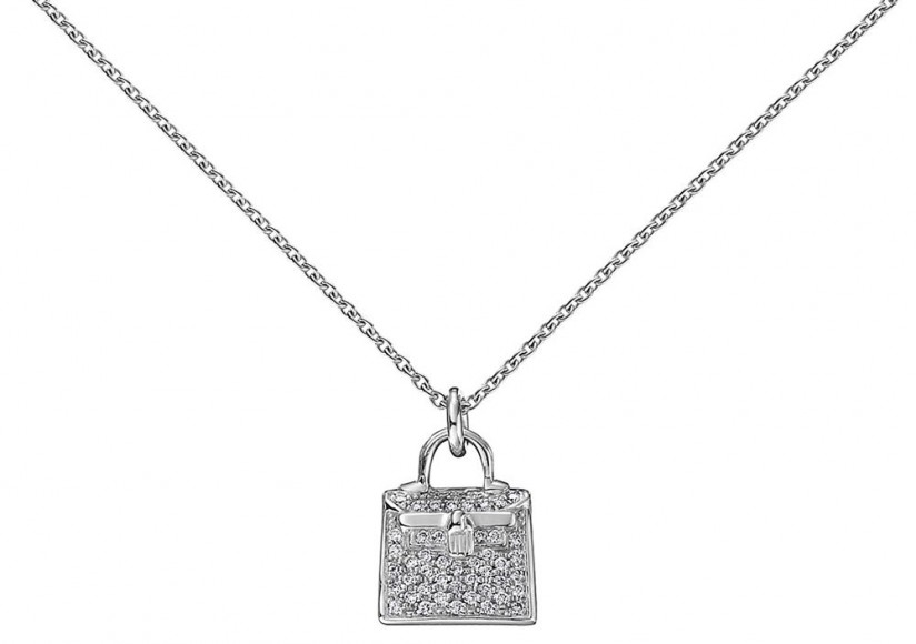 Hermès Kelly Pendant in Rose Gold and Diamonds