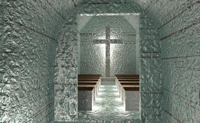 Ice cave chapel
