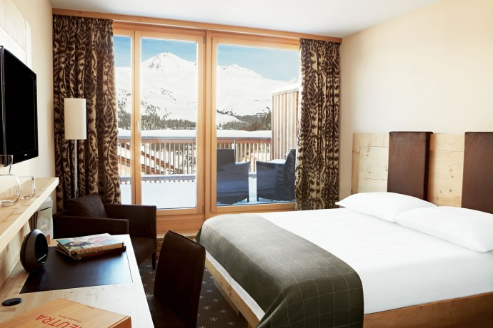The cosy and luxurious Corvatsch Room.