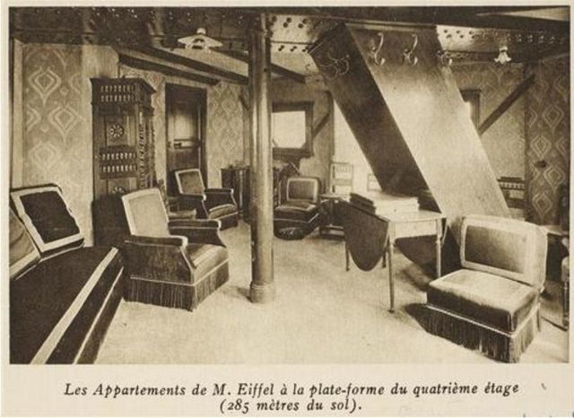 Vintage Photos of Gustav Eiffel's Apartment in the Eiffel Tower Paris