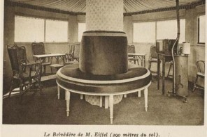 Vintage Photo of Gustav Eiffel's Apartment in the Eiffel Tower Paris