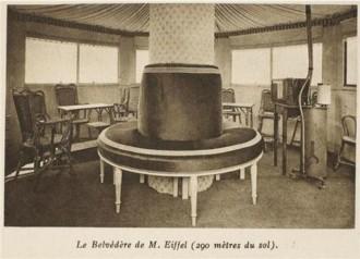 Vintage Photo of Gustav Eiffel's Apartment in the Eiffel Tower Paris