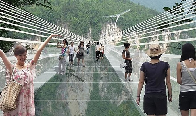 China to unveil the worlds longest transparent bridge and you can bungee jump too : Luxurylaunches