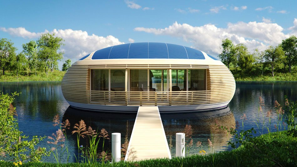 A London Based Company Called EcoFloLife Has Just Created An Amazing  Eco Friendly, Luxury Floating Home. Christened The WaterNest, The  Residential 100 Sq. M ...