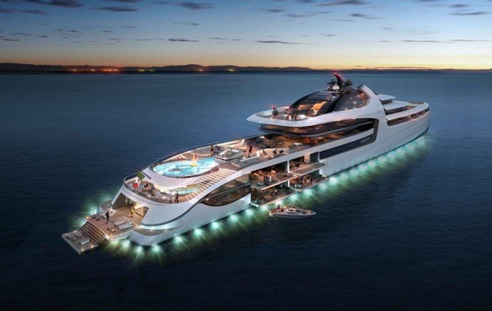 The Italian Sea Group's 'Admiral X-Force 145' is set to measure 476ft in length and feature dynamic spaces including full-height windows.