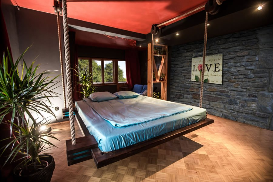 Fancy a hanging bed in your bedroom?