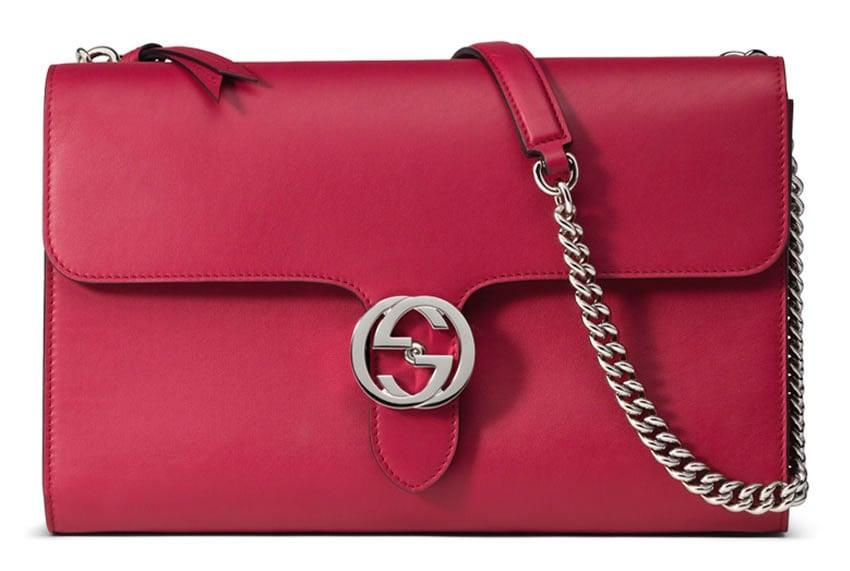 ad538c88c997 LL Arm Candy Pick  Gucci Interlocking Polished Leather Shoulder Bag -