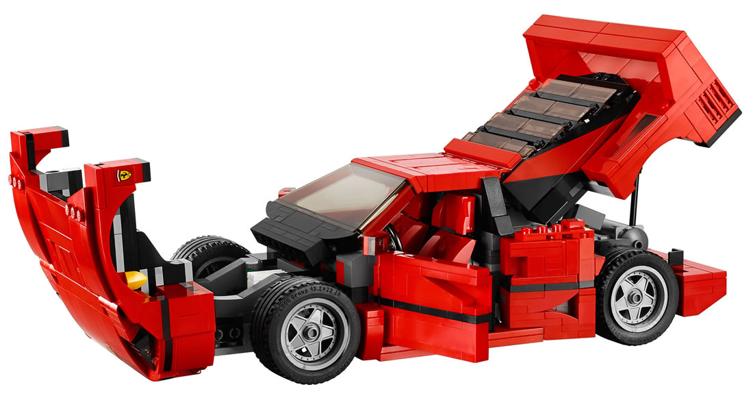 lego immortalizes the legendary ferrari f40 with its latest supercar model kit comes with. Black Bedroom Furniture Sets. Home Design Ideas