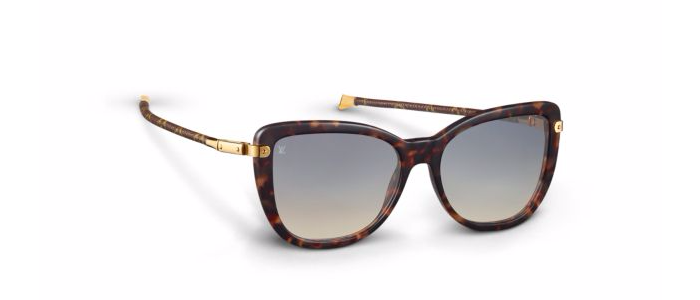97c21c76de91 Louis Vuitton's Charlotte sunglasses embody the spirit of a luxury  traveler. The stylish and feminine shape is reminiscent of a cat-eye and it  captures the ...