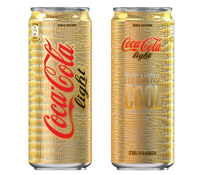 Trussardi and Coca Cola team up for chic limited edition bottles and cans : Luxurylaunches