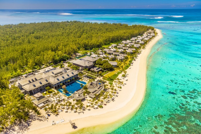 st-regis-mauritius-Aerial - view of Le Morne Peninsula