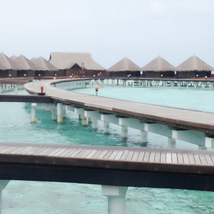 Pathway leading to over-water villas