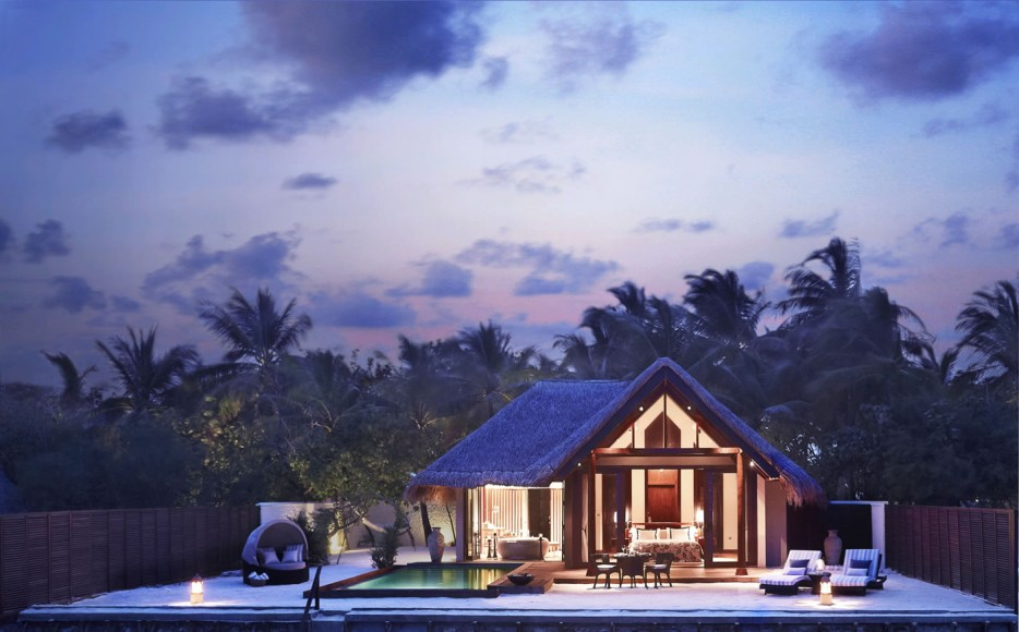 The absolutely stunning and private Beach villa