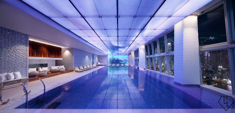Review Ritz Carlton Hong Kong Swimming Pool Blue Oasis