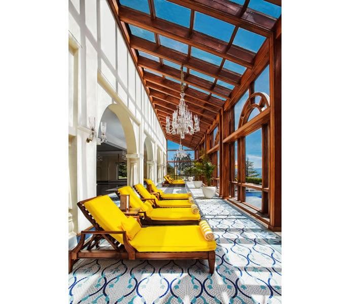 Sun Deck Area - Swimming Pool - Wildflower Hall, Shimla in the Himalayas - An Oberoi Resort