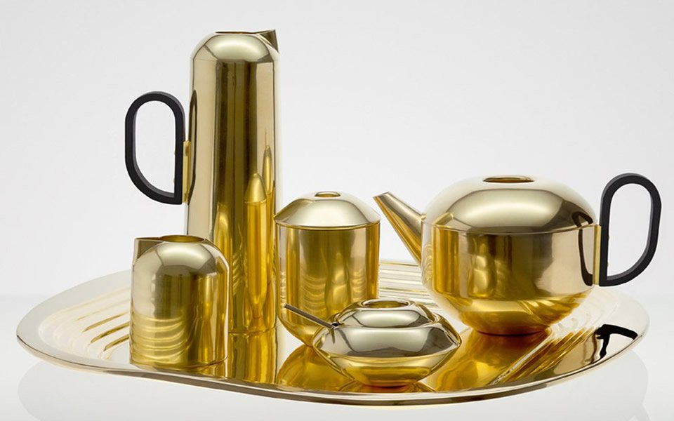 British Designer Tom Dixon Has Created A Stunning Copper Coated Set Of Implements To Brew And Serve Coffee Featuring Tin For Storing Beans Or