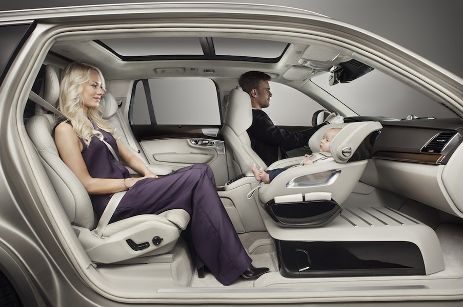 Junior Can Ride In Luxury With The Volvo Child Seat Concept