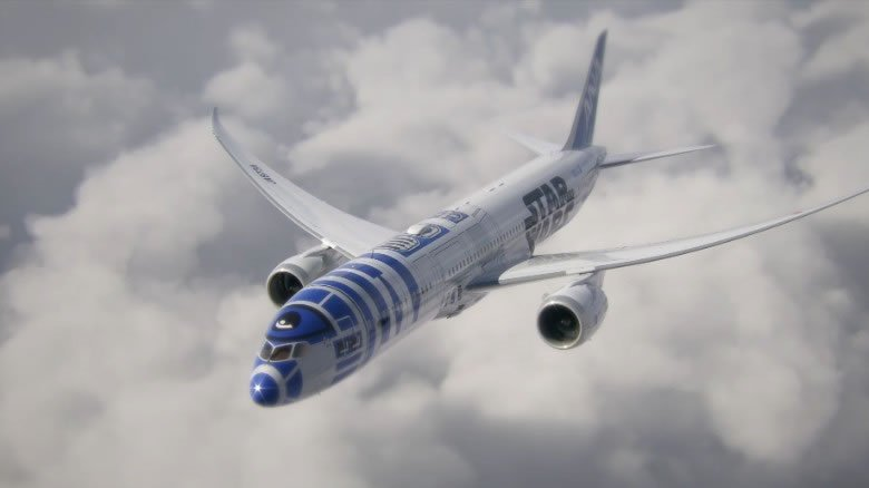 2-Star Wars planes feature R2-D2 and BB-8