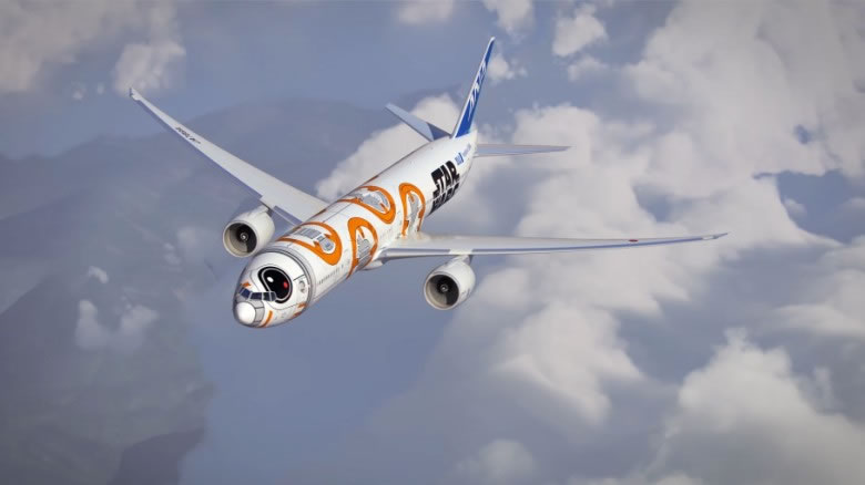 3-Star Wars planes feature R2-D2 and BB-8