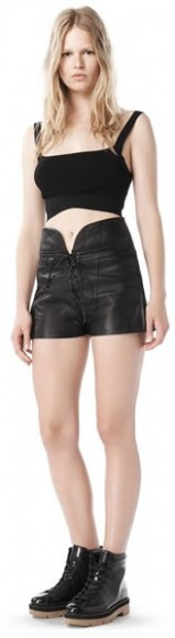 Spring 2010 lace-up leather shorts, $850.