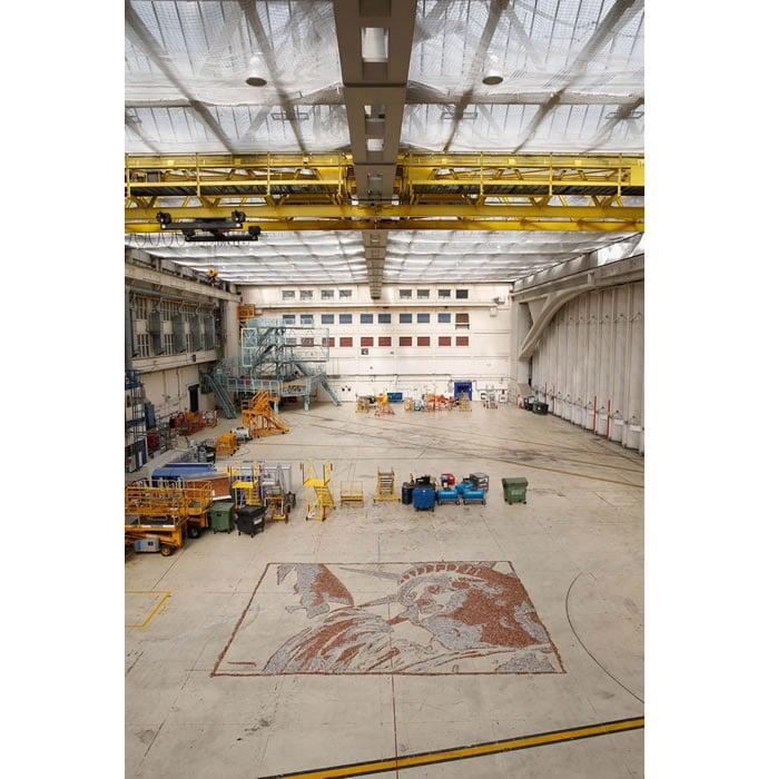 British Airways Workers At Heathrow Create Work Of Art 2